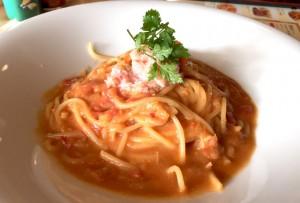 ずわい蟹のアメリカンソーススパゲッティ