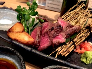 国産和牛の炭火焼ステーキ 100g