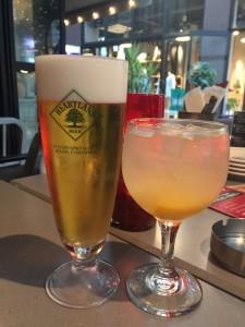 ビール、自家製サングリア